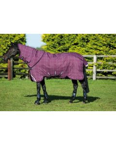 Horseware Rhino Plus Vari-Layer Mediumweight 250g Turnout Rug Berry/Grey