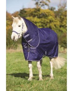 Horseware Amigo Hero ACY Pony Plus Medium 200g Turnout Rug Atlantic Blue