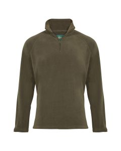 Alan Paine Mens Budworth Microfleece Pullover Olive