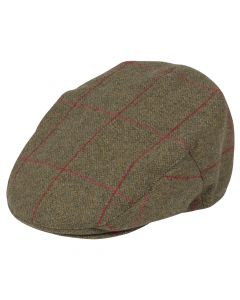Alan Paine Compton Tweed Flat Cap Sage