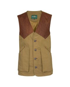 Alan Paine Mens Kexby Shooting Gilet Khaki