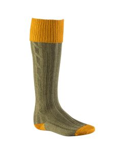 Alan Paine Mens Socks Ochre / Olive