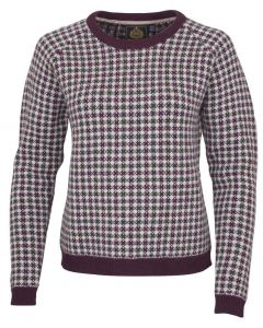 Toggi Ladies Bisset Checked Jumper Berry