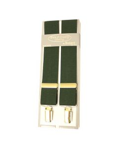 Bonart Mens Stretch Braces Green - Cheshire, UK
