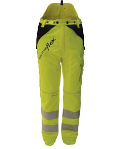 Arbortec Breatheflex Type C Class 1 Chainsaw Trousers Hi Vis Yellow