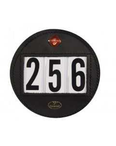Le Mieux Bridle Number Holder Round Black