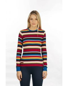 Horseware Ladies Long Sleeve Knit Top Autumnal Stripe