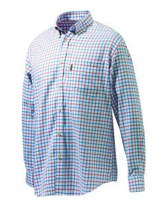 Beretta Mens Classic Shirt White/Red/Blue Check