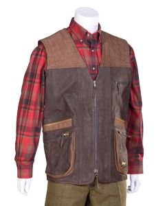 Bonart Mens Deer Leather Gilet Brown
