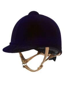 Charles Owen Junior Fian Velvet Riding Hat Navy