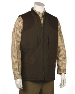 Bonart Mens Gillie Quilted Gilet Green