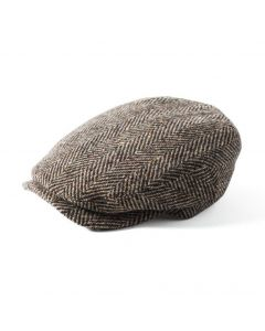 Failsworth Donegal Windsor Flat Cap Brown Herringbone