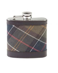 Barbour Mens Hip Flask Classic Dark Brown