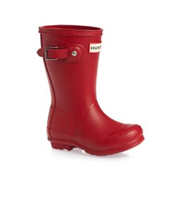 Hunter Kids Original Wellington Boots Military Red