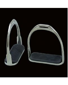 Jeffries Eldonian Hunting Stirrups with Tread