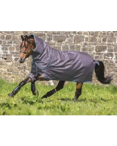 Horseware Amigo Super Hero Plus 150g Turnout Rug Blue/Gunmetal