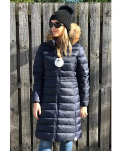 JOTT Ladies Dahlia Down Jacket Fur Hood Marine