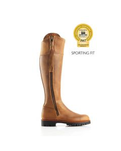 Fairfax & Favor Ladies Imperial Explorer Sporting Fit Boots Oak Leather