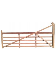 Iroko Timber Ranch Gate