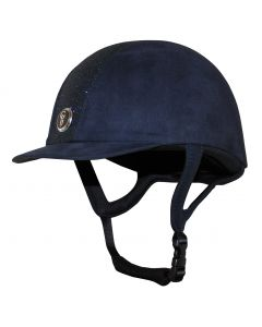 Gatehouse Junior Jeunesse Glitter Riding Hat Navy