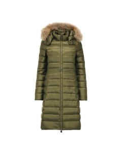 JOTT Ladies Dahlia Down Jacket Fur Hood Khaki