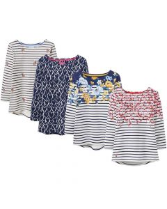 Joules Ladies Harbour Printed Jersey Top