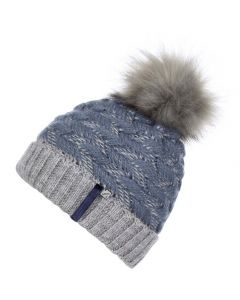 LeMieux Ladies Banff Pom Pom Beanie Hat Ice Blue
