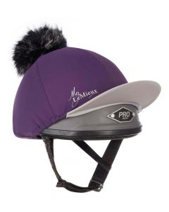 LeMieux Pom Pom Hat Silk Blackcurrant