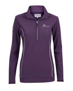 LeMieux Ladies Madrisa Fleece Top Blackcurrant
