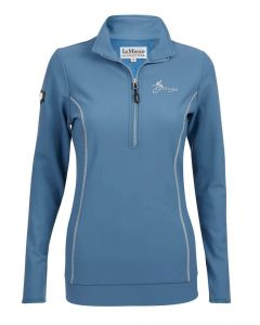 LeMieux Ladies Madrisa Fleece Top Ice Blue