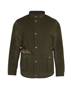 Alan Paine Mens Loden Quilted Jacket Olive