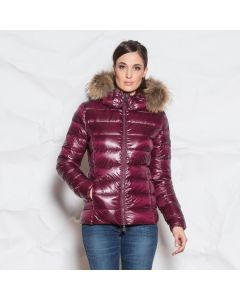 JOTT Ladies Luxe Gloss Down Jacket Aubergine