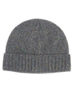 Barbour Mens Lynton Beanie Hat Grey - Cheshire, UK