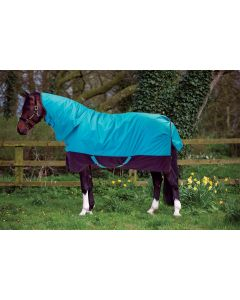 Horseware Mio All-In-One Lite 100g Turnout Rug Turquoise/Black