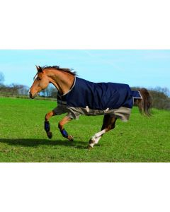 Horseware Mio Lite 0g 600D Turnout Rug Navy / Tan