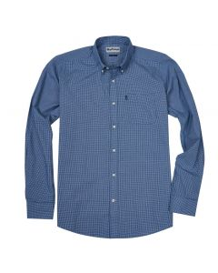 Barbour Mens Endsleigh Micro Gingham Shirt Dark Chambray
