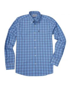 Barbour Mens Stapleton Tattersall Shirt Blue