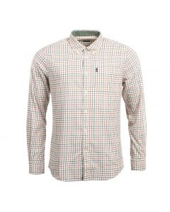 Barbour Mens Endsleigh Tattersall Shirt Red