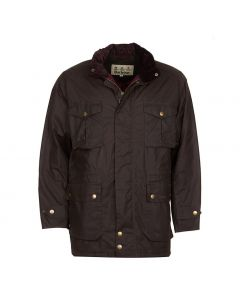 Barbour Mens Newcastle Wax Jacket Peat