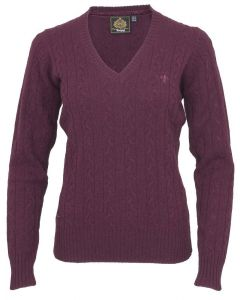 Toggi Ladies Pavlow Classic V Neck Jumper Berry