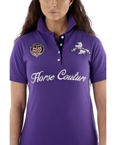 Horse Couture Ladies Mimosa Polo Shirt Purple
