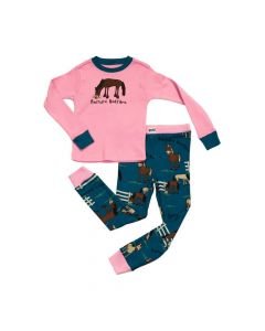LazyOne Girls Pasture Bedtime Long Sleeve Pyjama Set