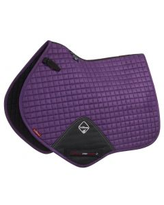 LeMieux ProSport Suede Close Contact Square Saddle Pad Blackcurrant
