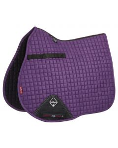 LeMieux ProSport GP Suede Square Saddle Pad Blackcurrant
