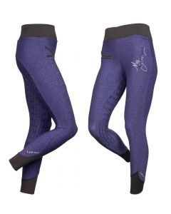 LeMieux Ladies Pull On Active Wear Breeches Blackcurrant