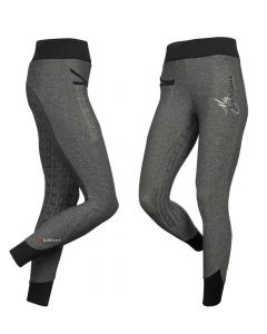 LeMieux Ladies Pull On Active Wear Breeches Grey