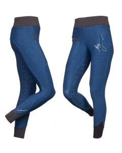 LeMieux Ladies Pull On Active Wear Breeches Navy