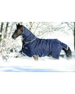 Horseware Rambo Duo Turnout Rug Navy / Sky Blue / Brown