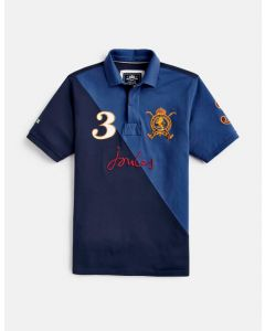 Joules Mens Regal Embellished Classic Fit Polo French Navy