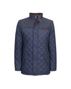 Jack Murphy Mens Matthew Quilted Jacket Ink Blue